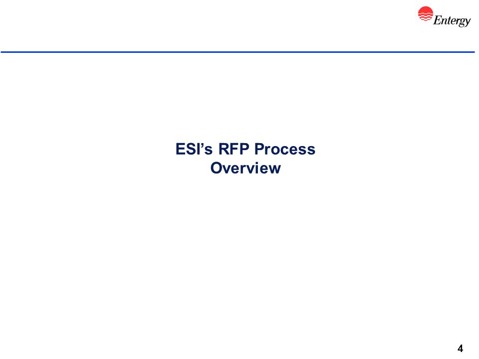 4 ESI's RFP Process Overview