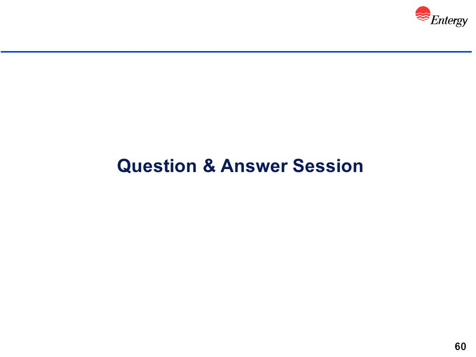 60 Question & Answer Session