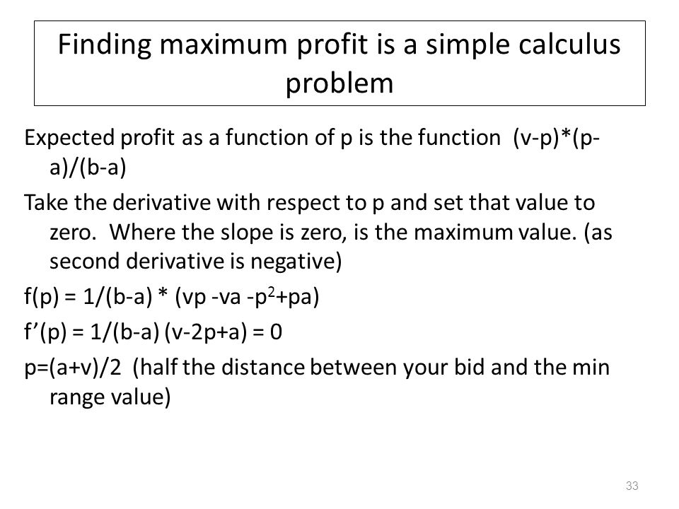 What is your expected profit (dutch auction).