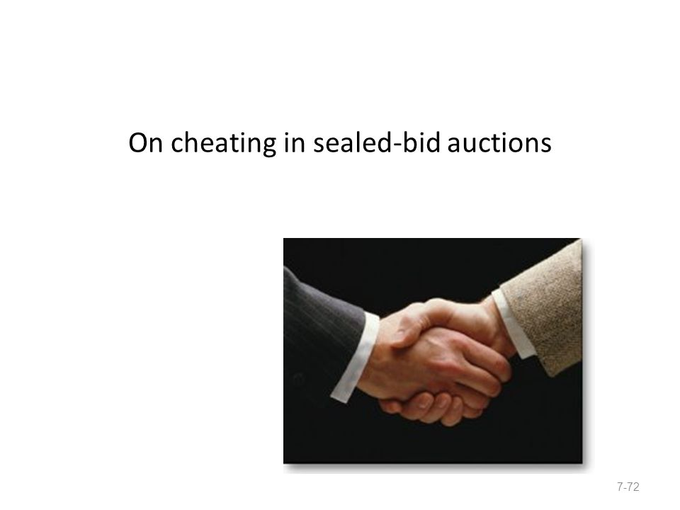 Winner's Curse In auctions where bidders have common values, the winner tends to have overestimated asset value.