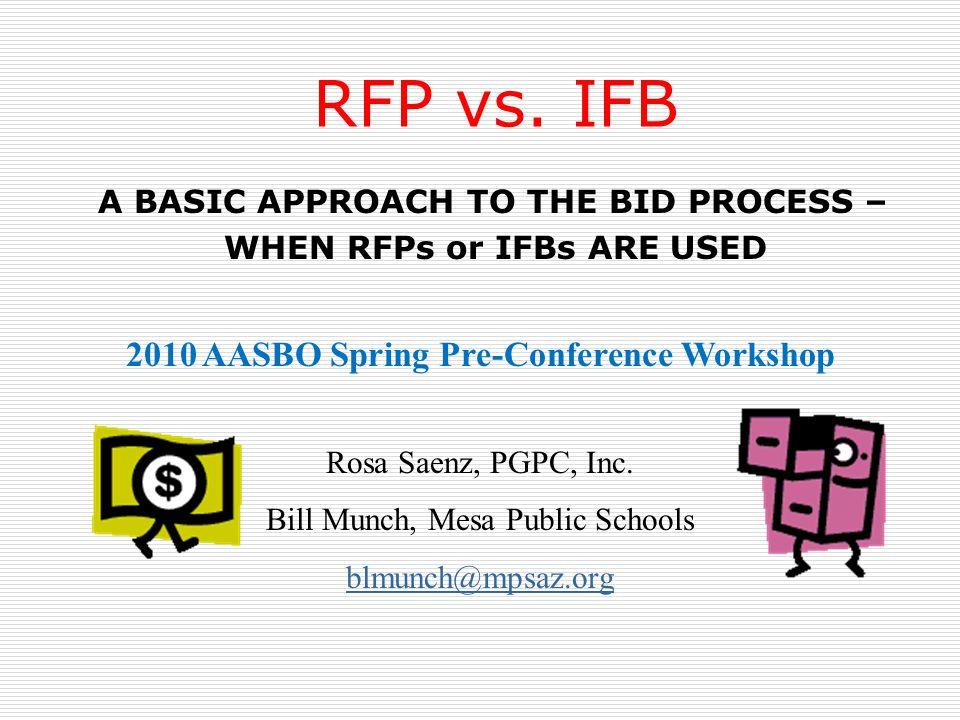 RFP vs.