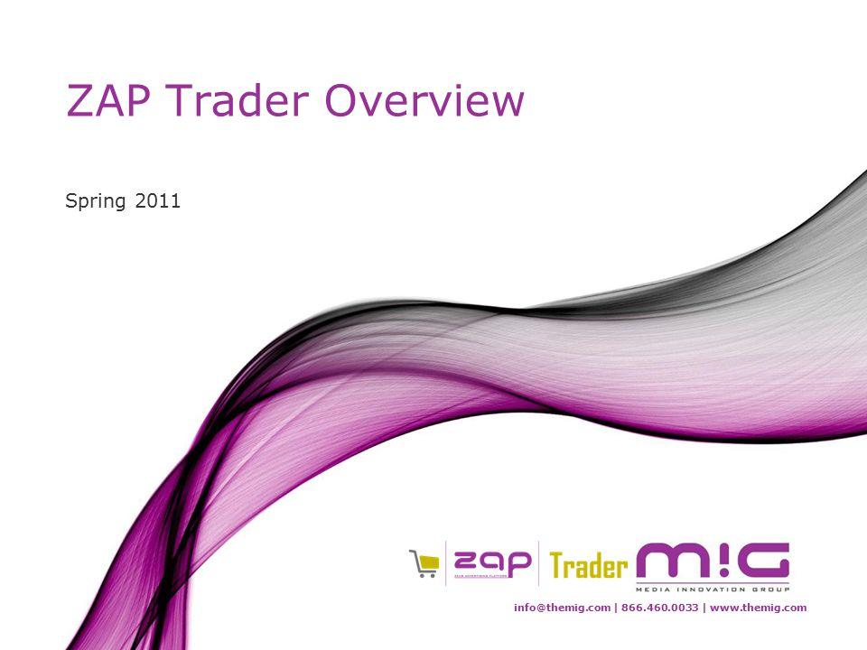 info@themig.com | 866.460.0033 | www.themig.com ZAP Trader Overview Spring 2011