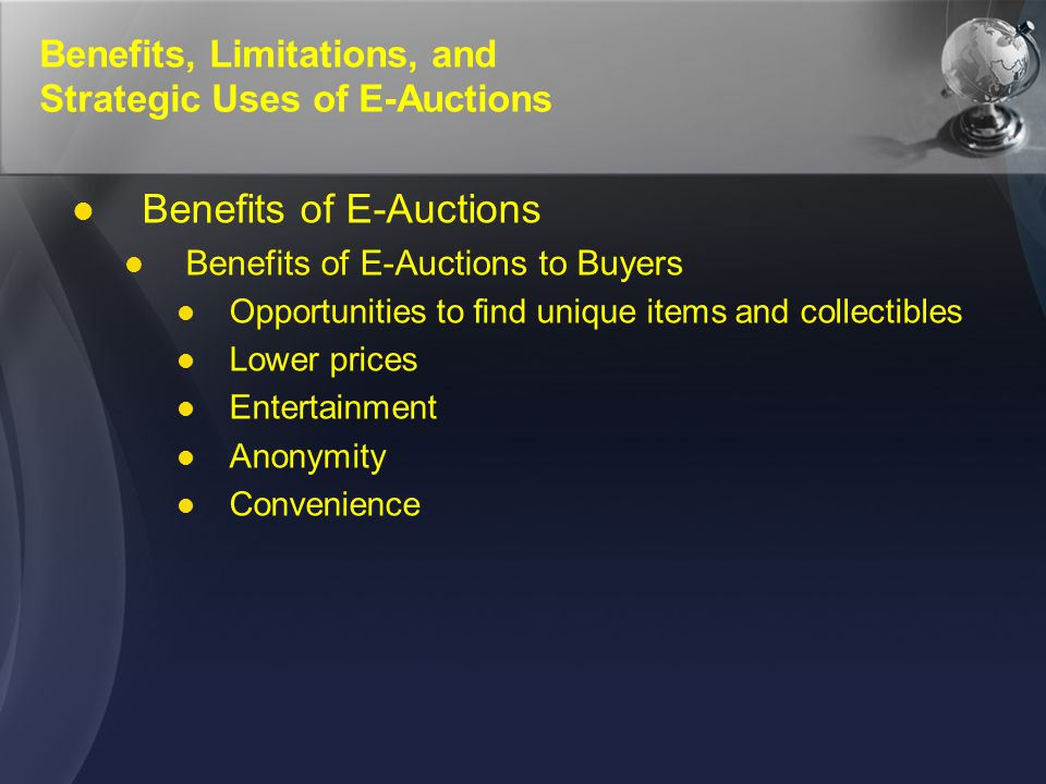 E-Auction Fraud and Its Prevention Types of E-Auction Fraud (1)(1) bid shielding Having phantom bidders bid at a very high price when an auction begins; they pull out at the last minute, and the bidder who bid a much lower price wins shilling Placing fake bids on auction items to artificially jack up the bidding price Fake photos and misleading descriptions Improper grading techniques Selling reproductions as originals Failure to pay Failure to pay the auction house