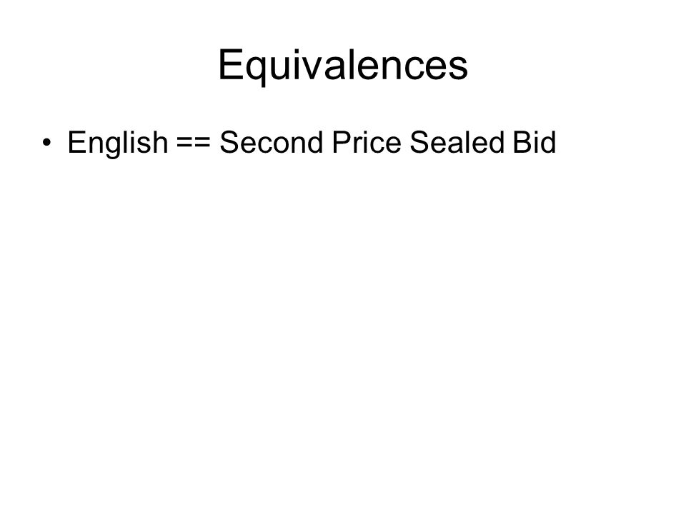 In experiments … Winning bidders in experiments tend to pay a lower price in the Dutch auction than in the sealed bid.