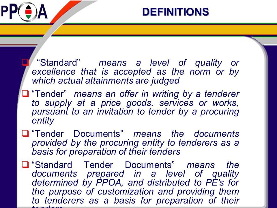 Section V-Technical Specifications To include but not limited to;  Scope of works.Bill of Materials.