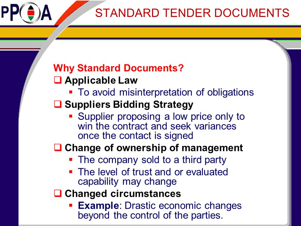 Why Standard Documents.