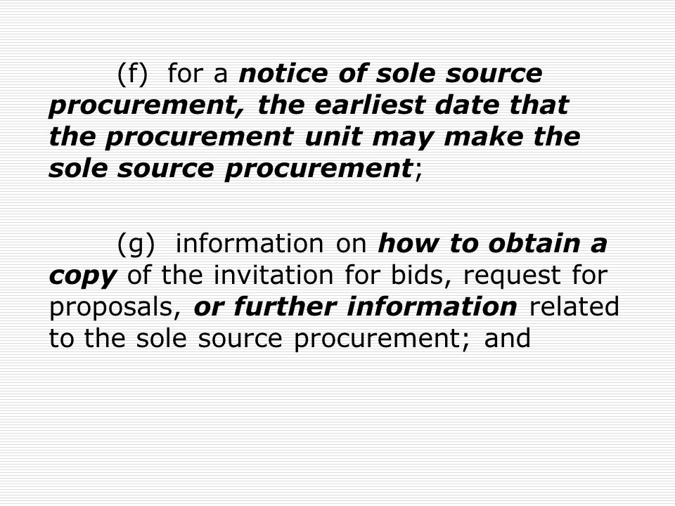 63G-6a-606.Evaluation of bids – Award- Cancellation - Disqualification (1) The division or a procurement unit with independent procurement authority shall evaluate each bid using the objective criteria described in the invitation for bids, which may include: (a) experience; (b) performance ratings; (c) inspection;