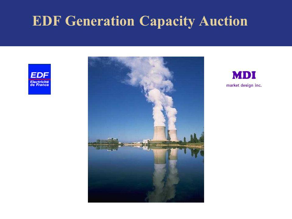 EDF Generation Capacity Auction MDI market design inc.