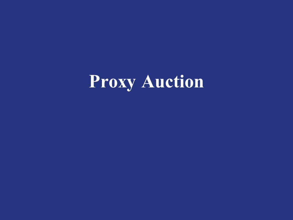Proxy Auction