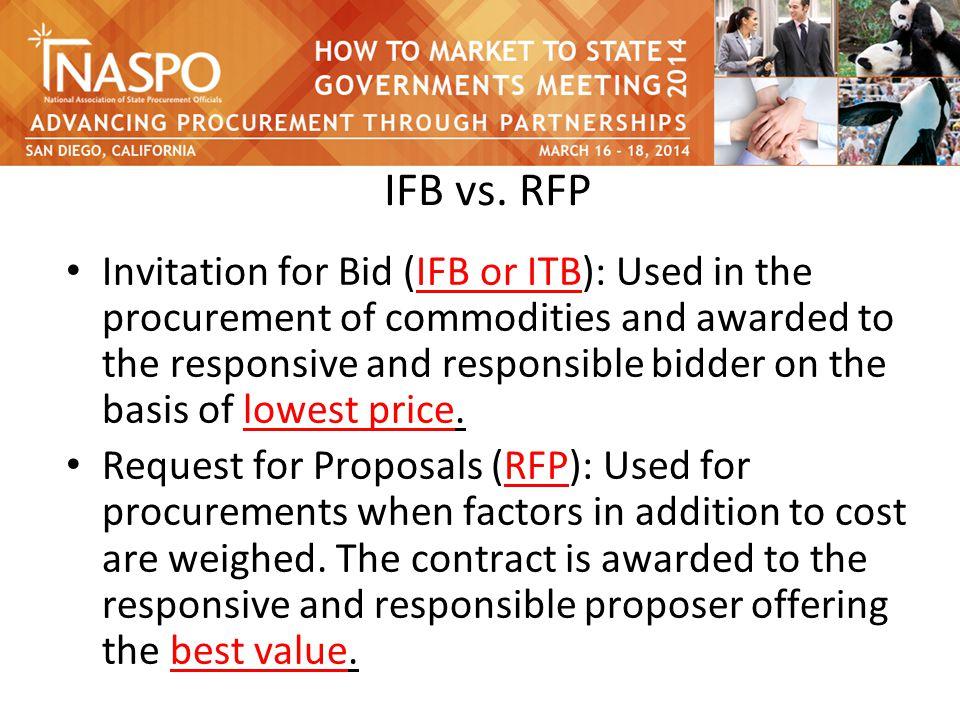 IFB vs.