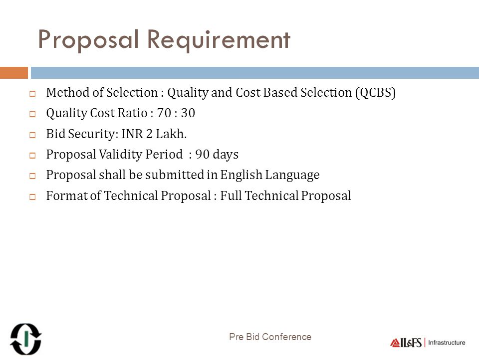 Evaluation Criteria Pre Bid Conference ParametersMax.