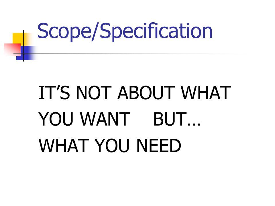 Scope vs.