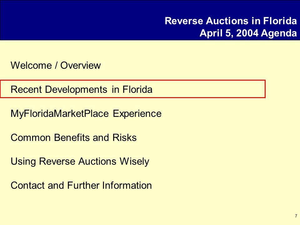18 Reverse Auctions Possible Risks (Ga.