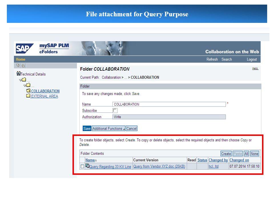 File attachment for Query Purpose