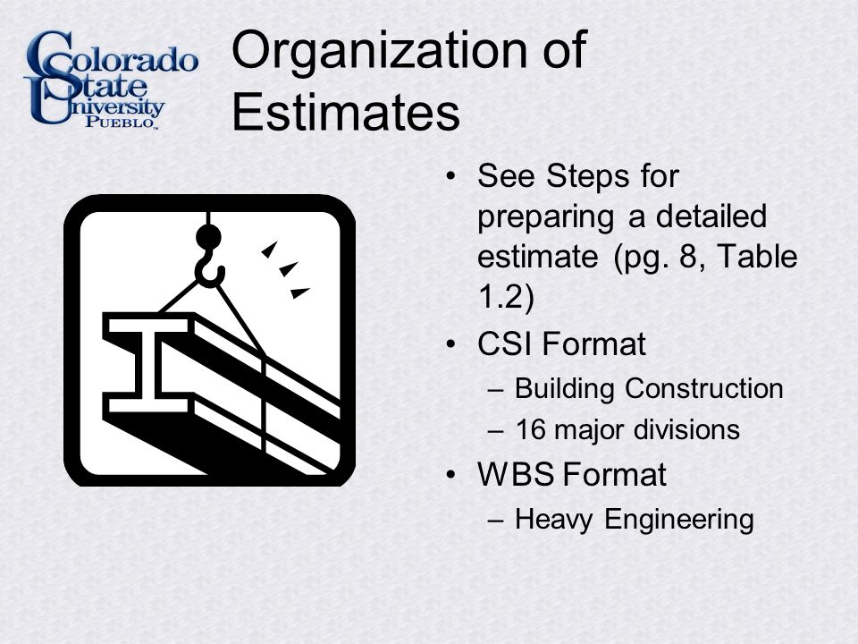 detailed estimate format