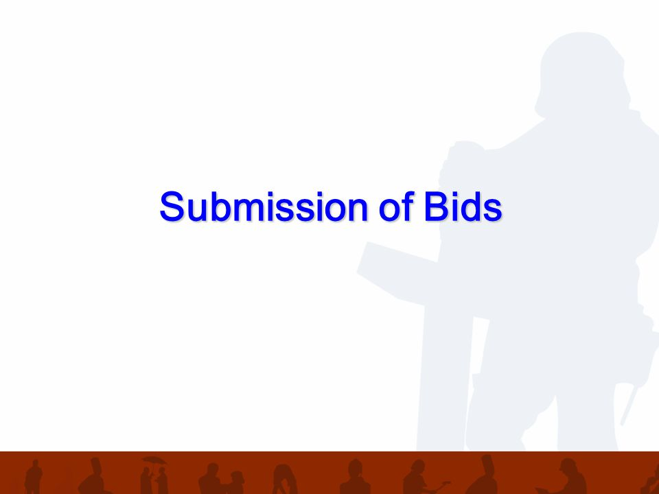 Submission of Bids