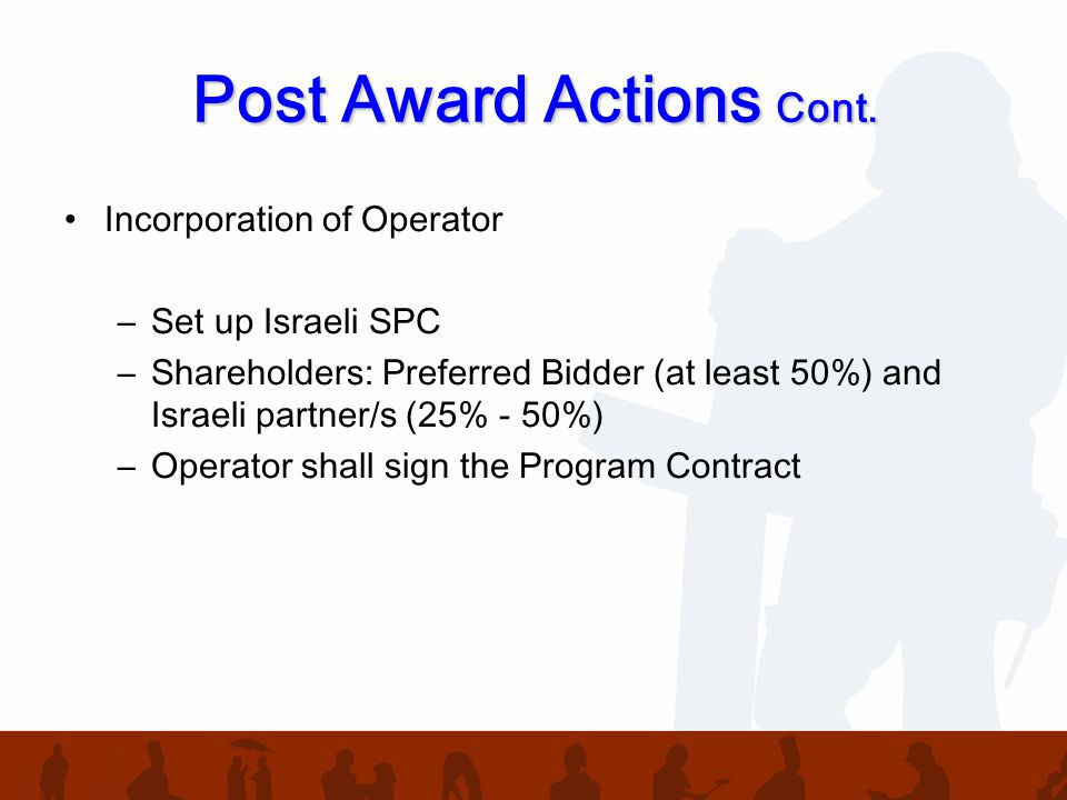 Post Award Actions Cont.