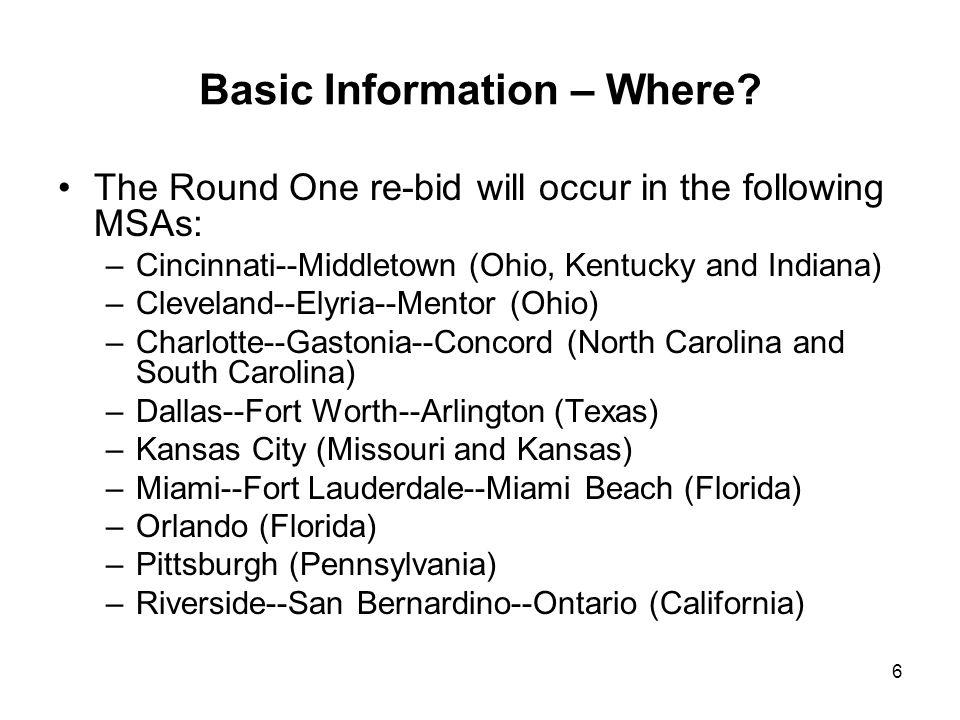 6 Basic Information – Where.