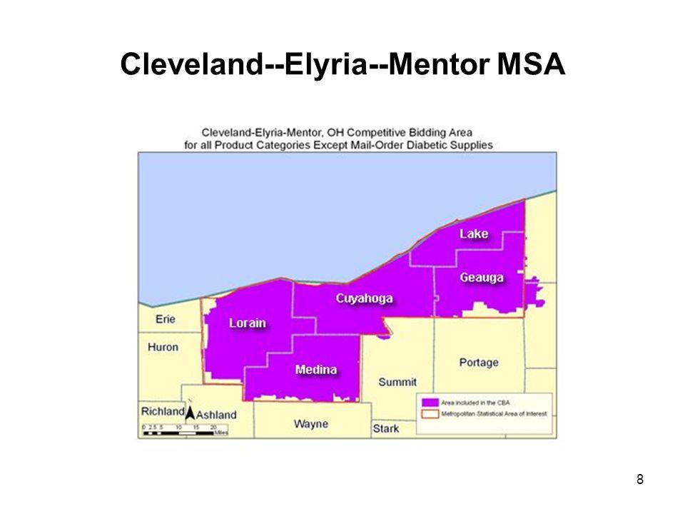 8 Cleveland--Elyria--Mentor MSA