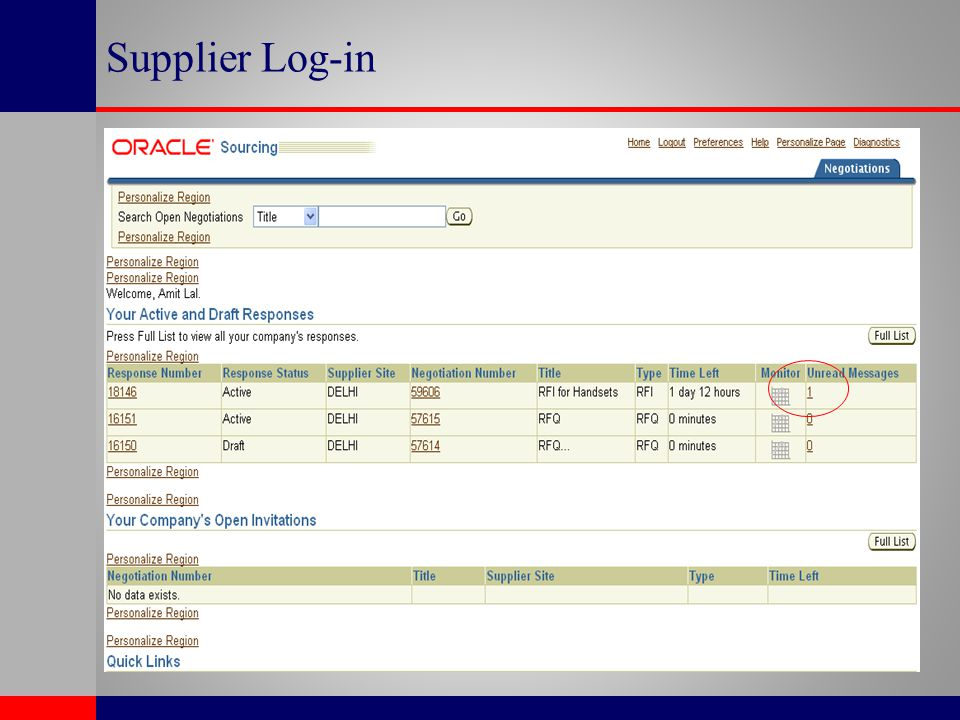 Supplier Log-in