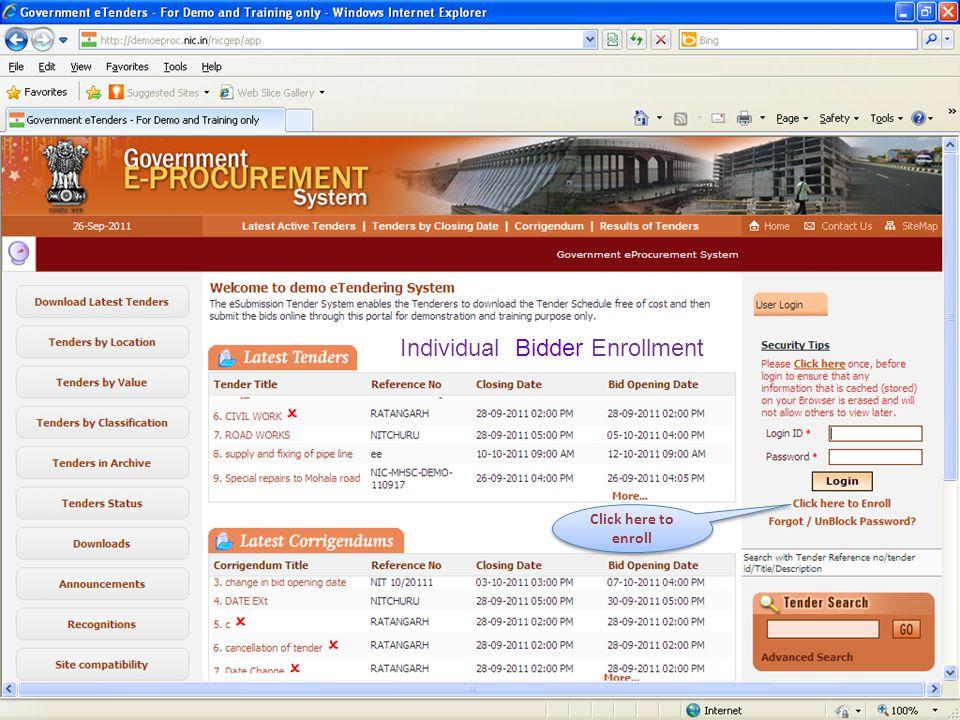 Confirmation of DSC Enrollment Confirmation displays the result of DSC enrollment.