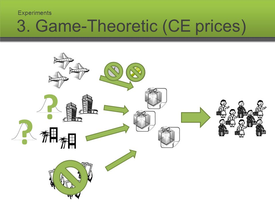 3. Game-Theoretic (CE prices) Experiments ? ?
