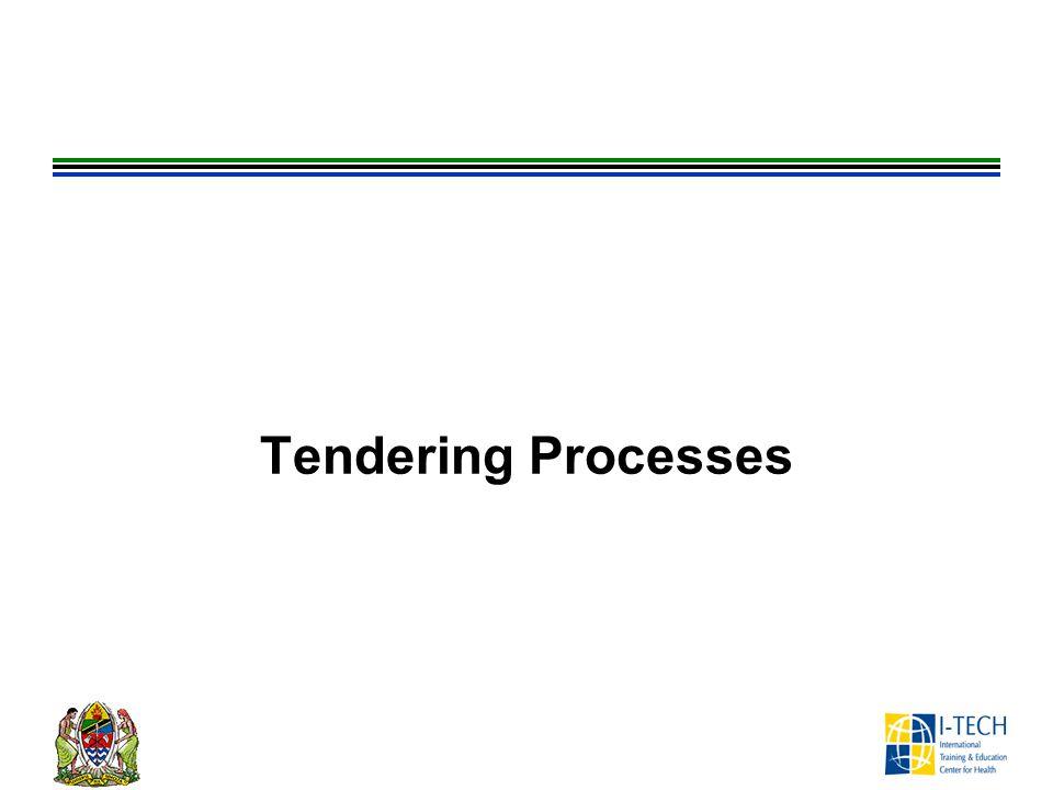 Tendering Processes