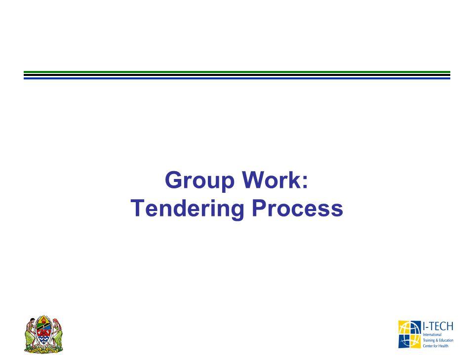 Group Work: Tendering Process