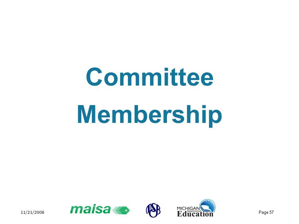 11/21/2008 Page 57 Committee Membership