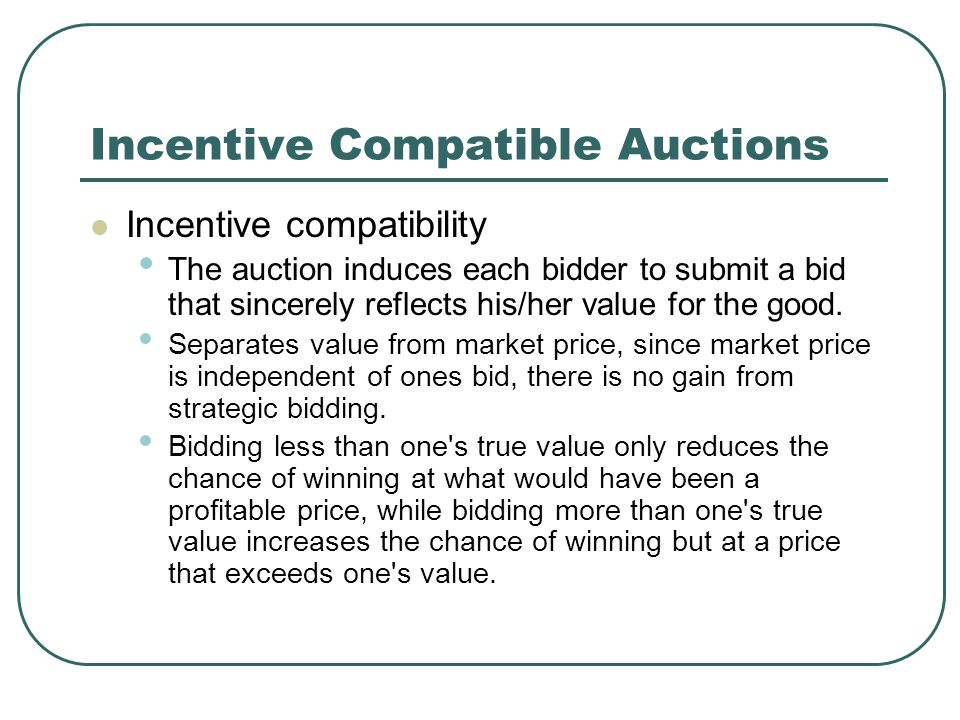Approaches to Auction Endowment approach Endowed with one product and bid on an upgrade/downgrade from this to another product.