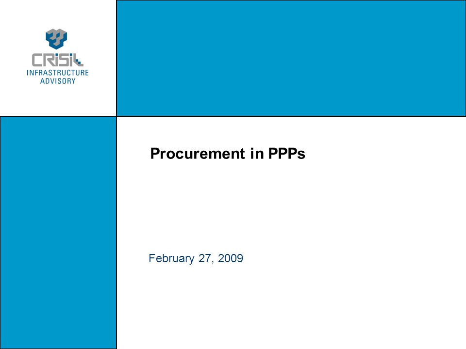 Procurement in PPPs February 27, 2009