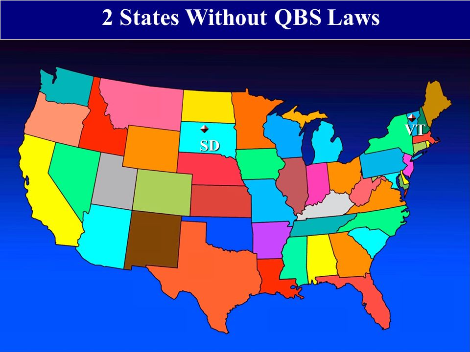 2 States Without QBS LawsVT SD