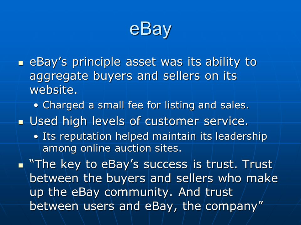 Policing eBay eBay relied on its community to help police its site eBay relied on its community to help police its site the community is also self-policing, and users frequently form 'neighborhood watch' groups to help guard against misuse or violations of the sites etiquette. the community is also self-policing, and users frequently form 'neighborhood watch' groups to help guard against misuse or violations of the sites etiquette. eBay Sought to ensure the privacy of its users.