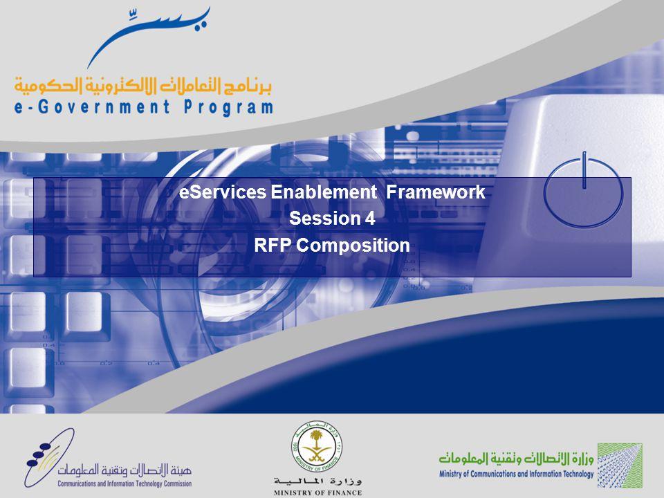 eServices Enablement Framework Session 4 RFP Composition