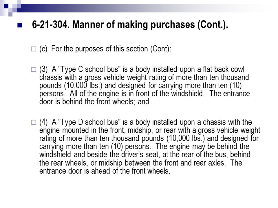 6-21-304. Manner of making purchases (Cont.).