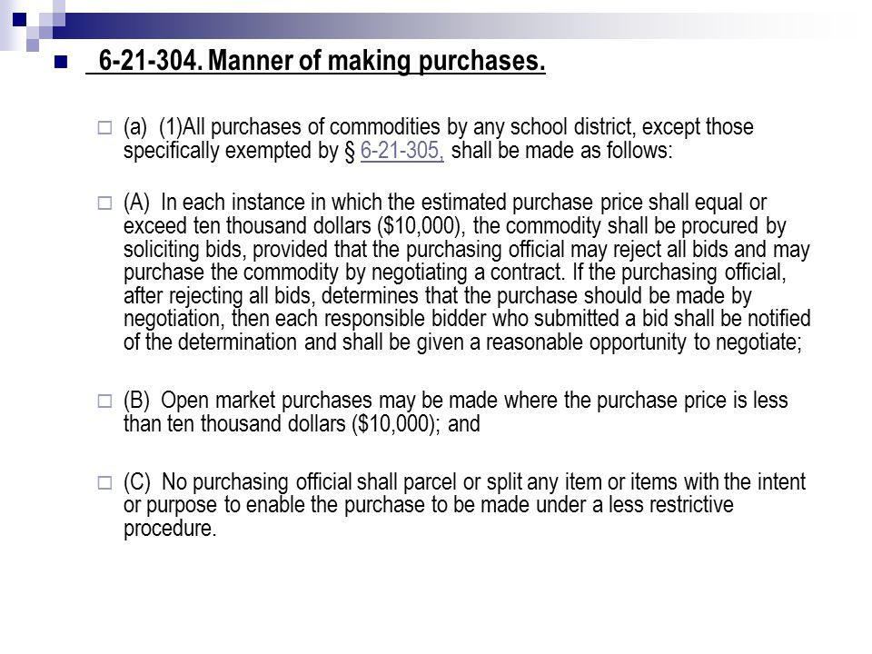 6-21-305.Exemptions from bidding requirements (Cont.).