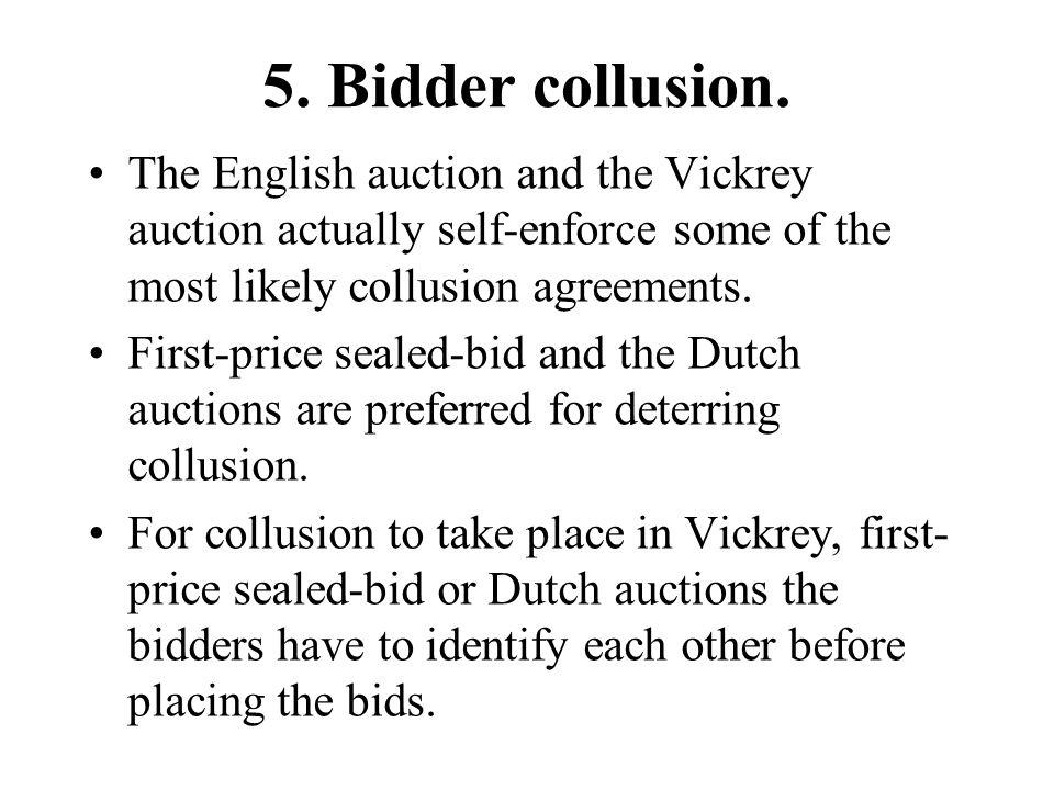 5. Bidder collusion.