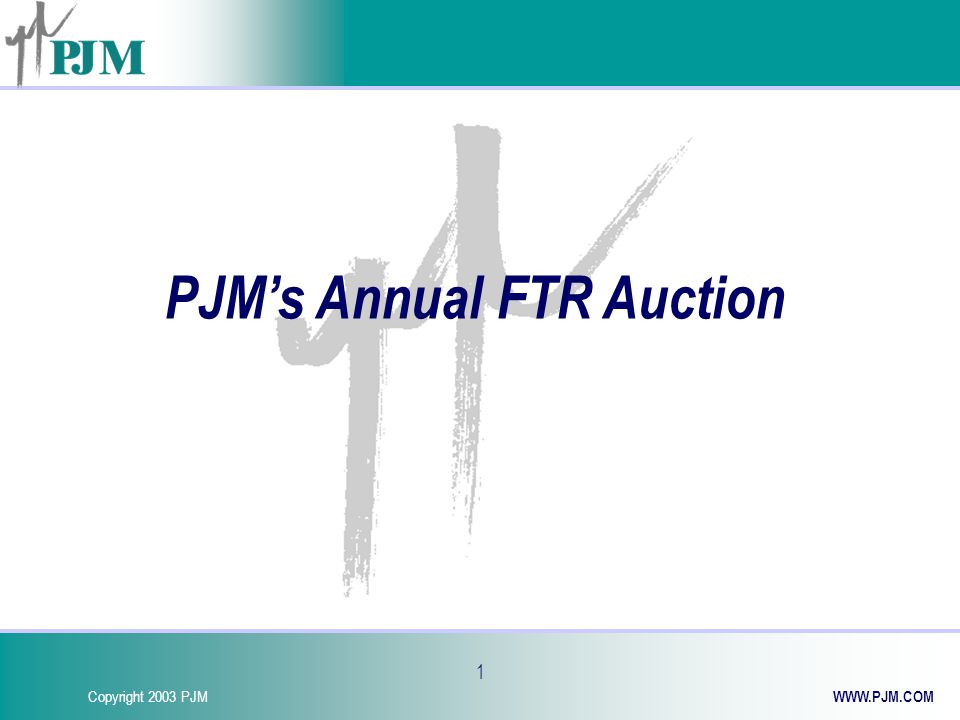 Copyright 2003 PJM WWW.PJM.COM 12 BENEFITS New FTR Product Provides additional Transmission congestion hedging alternatives to PJM customers Will make analysis of hedging alternatives less complex