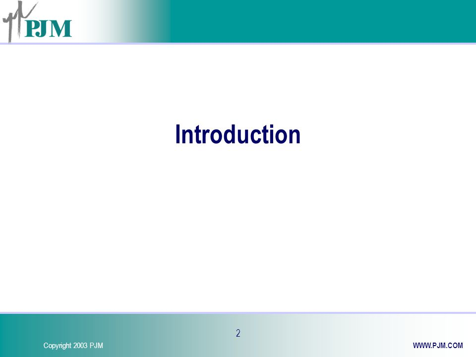 Copyright 2003 PJM WWW.PJM.COM 13 FTR Market Timeline