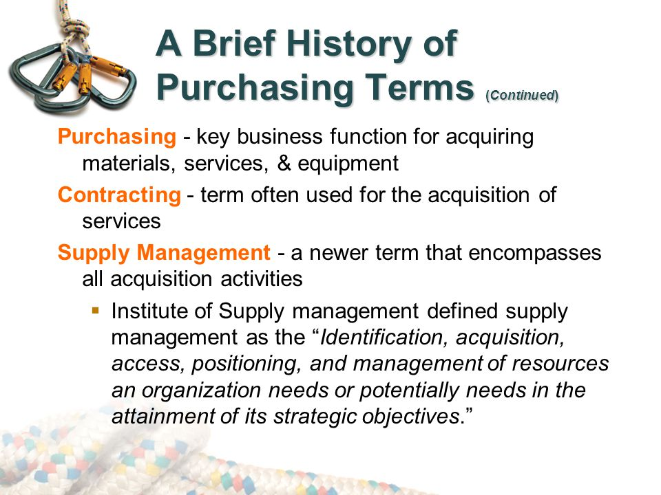 Procurement for Government & Non-Profit Agencies (Continued) Rules that often govern Government & Non-Profit Procurement: Federal Acquisition Streamlining Act (1994) – Removed restrictions on bids less than $100,000.