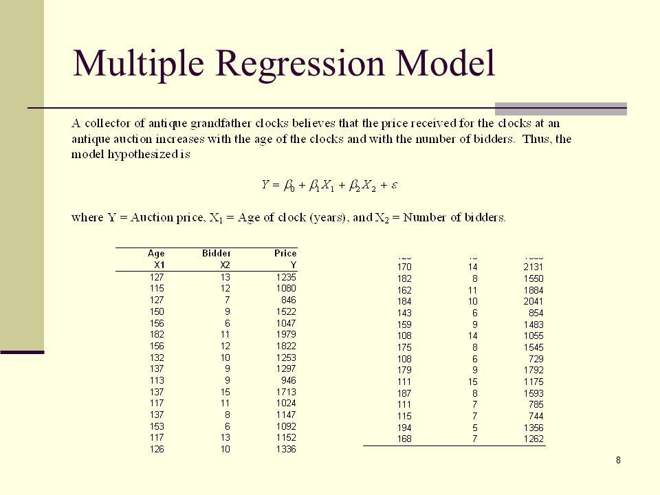 8 Multiple Regression Model