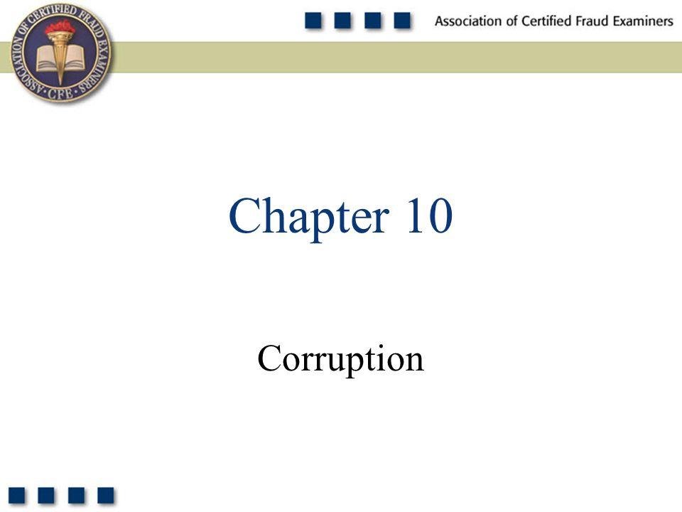 2 What are the two principle schemes involving bribery? Pop Quiz