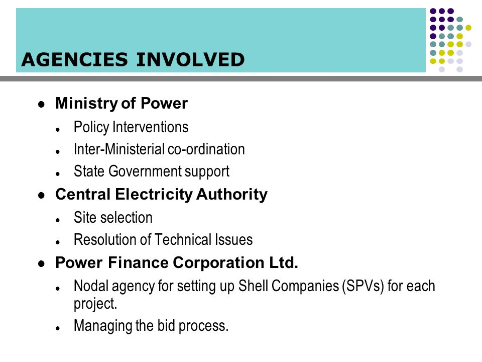 Ministry of Power Policy Interventions Inter-Ministerial co-ordination State Government support Central Electricity Authority Site selection Resolutio