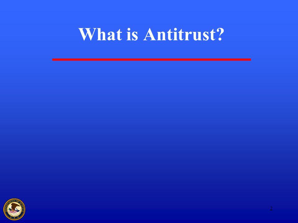 2 What is Antitrust?