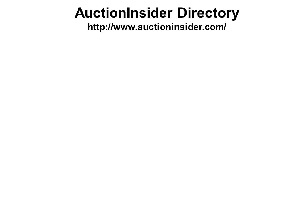 AuctionInsider Directory http://www.auctioninsider.com/