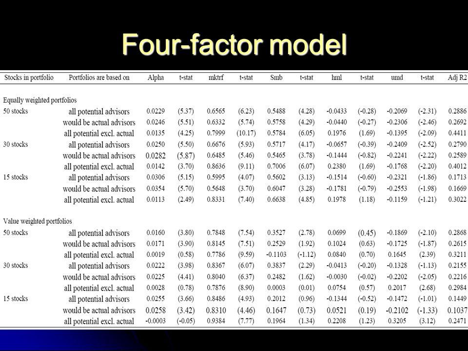 Four-factor model