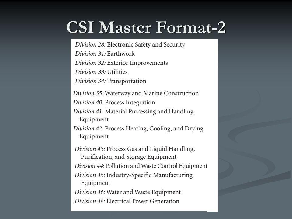CSI Master Format-2