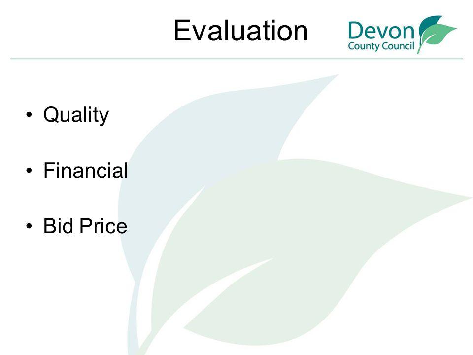 Evaluation Quality Financial Bid Price