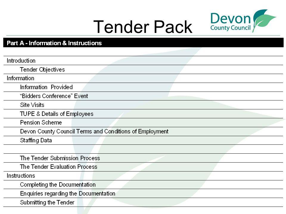 Tender Pack