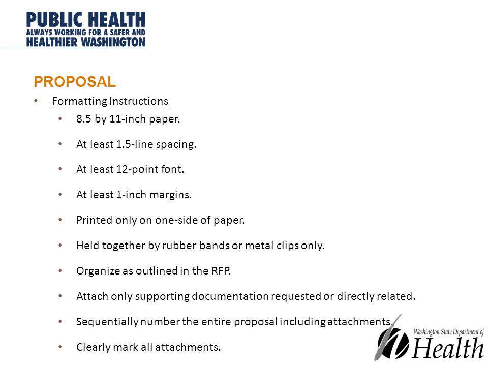 PROPOSAL Formatting Instructions 8.5 by 11-inch paper.